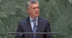 """En tono de campaña, Macri dijo en la ONU que su """"prioridad"""" es """"llevar alivio a los argentinos""""."""