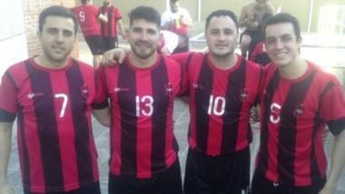 Acosta, Villagra, Garay y Pierresteguy, cuatro de los jugadores que representan a Independiente en Neuquén.