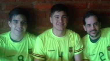 Ignacio Jara, Ezequiel Campilongo y Juan Ignacio Salaberry, tras ganar.