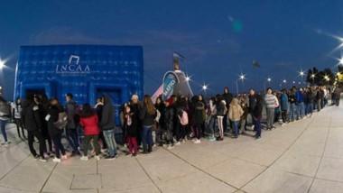 La carpa INCAA del Festival Internacional de Cine de Puerto Madryn fue uno de los lugares más concurridos.
