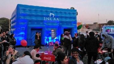 La  Carpa inflable – Micro cine Incaa donde se realizarán el  Mini MAFICI, charlas y encuentro con artistas.