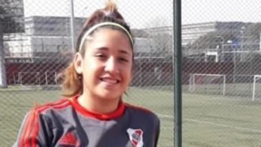 Melina Melipil disputó los últimos diez minutos de la goleada de River ante Platense el pasado domingo.