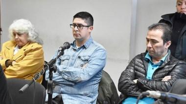 Imputados. Calatayud (izquierda), Santos Muñoz y Correa, durante la audiencia de ayer en los tribunales.