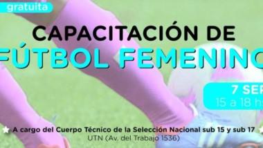 La selección femenina sub 17 arriba a la zona para realizar capacitaciones y una prueba de jugadoras.
