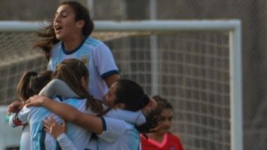 """La Selección Sub 17 derrotó a las """"Valletanas"""" por 4-0 el domingo."""
