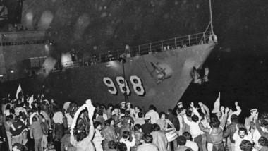 La flota norteamericana arribó al puerto de Madryn pero  la comunidad los obligó  a retirarse.