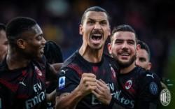 Ibrahimovic la puso junto al palo para el 2-0 del Milan sobre Cagliari; es su primer gol en su 2° etapa con los Rossoneri.