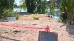 La zona del río no era un lugar habilitado para bañarse. (Foto: Yamil Regules)