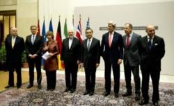 Foto de archivo dee momento en que se anunció este histórico acuerdo impulsado por el ex presidente Barack Obama y su secretario de Estado John Kerry (tercero desde la derecha).