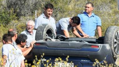 El auto fue restablecido a su posición natural y trasladado a Madryn.