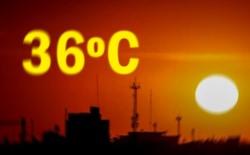 Una intensa jornada de calor se espera para este viernes con una térmica calculada en 36ºC. (Windy.com)