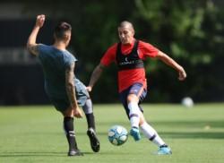 San Lorenzo disputó una práctica de fútbol de 35 minutos en ciudad deportiva contra All Boys. El partido terminó 3-2 para los visitantes.