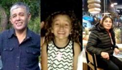 Las tres victimas de la masacre.