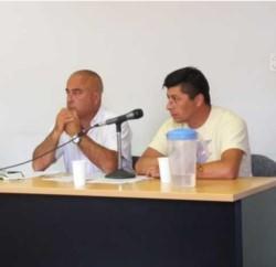 Mauro Eldahuk en la audiencia de ayer. Lo acusan de atropellar a  Segundo Llanquitrú, quién falleció.