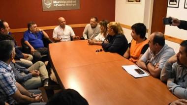 El intendente de Puerto Madryn recibió en su despacho a los referentes de la la CGT del Valle.