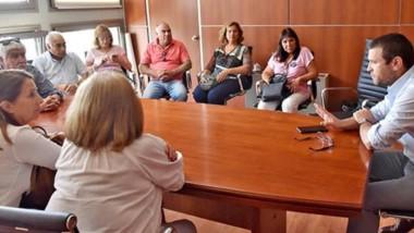 Los reprsententantes de los jubilados provinciales también se hicieron presente ayer en Legislatura para dialogar con los diputados.