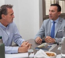 El intendente Maderna junto al ministro de Infraestructura Katopodis.
