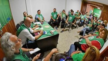 La asamblea que se llevó adelante en el día de ayer por parte de los trabajadores nucleados en ATE.