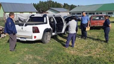La camioneta en que se desplazaba el individuo fue requisada ayer.