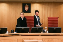 La jueza del caso, Mariell Gabrielsen, junto al juez lego, Ricardo Clarke (Foto: Sindre Kolberg / Bodonu.no)