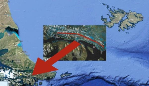 Dos poderosas placas tectónicas dividen a las isla de Tierra del Fuego.