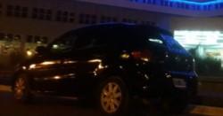 Una imagen del auto robado en Madryn en las últimas horas (foto facebook)