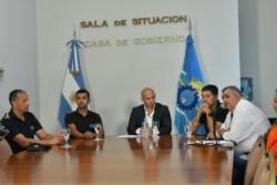 El Ministro de Seguridad del Chubut, Federico Massoni. Fotos: Daniel Feldman/Jornada