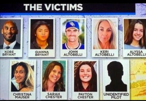Ellos eran los pasajeros que acompañaban a Kobe Bryant en el helicóptero y que fallecieran en trágico accidente.