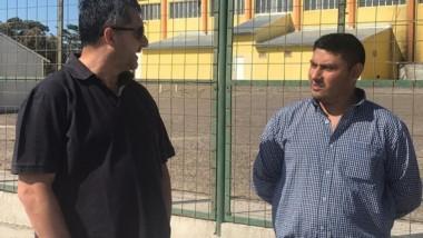 Gustavo Hernández visitó Camarones y Comodoro Rivadavia.