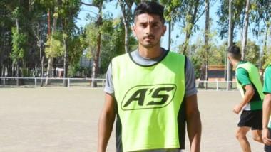 Marcos Rivadeneira se entrenó por segunda vez en Germinal. Puede ser titular el domingo ante Belgrano.