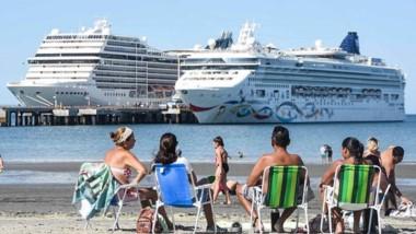 Madryn sufrió un aluvión de visitantes con la llegada de los dos cruceros. El MSC Magnífica se encuentra dando la vuelta al mundo.