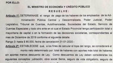 El decreto donde se dio a conocer cómo será el pago de Economía.