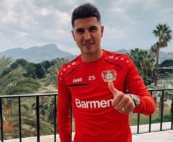 Exequiel Palacios ya se sumó al Bayer Leverkusen y ya lució por primera vez la indumentaria de su nuevo equipo.