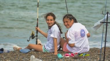 Los chicos disfrutaron de un gran evento organizado por el Club de Pesca Náutica y Caza Submarina de Trelew, con mas de 200 chicos inscriptos.