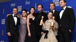 """En la categoría a Mejor Película de Comedia o Musical, se corona """"Había una vez en… Hollywood"""", esta es la primera vez que una cinta de Quentin Tarantino se lleva un Globo de Oro en esta terna."""