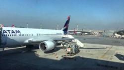 Una turbina del Boeing 767-300 de LATAM se incendió al momento del despegue.