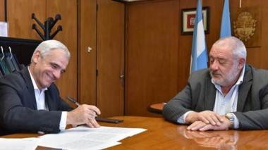 Cumbre. El presidente del Banco y el titular del STJ acordaron seguir con el proyecto del nuevo servicio.
