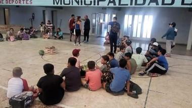 En Gaiman, se puso en marcha ayer la Colonia con más de 60 chicos.