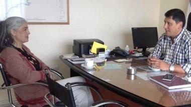 Cristian Solís fuer recibido este miércoles por Luis Aguilera, subsecretario de Asuntos Municipales.