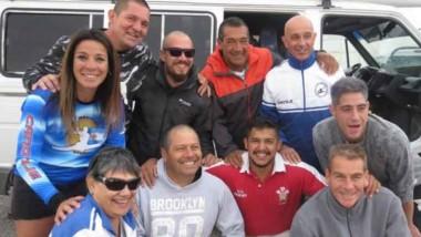 Esta es la delegación del Club Regatas de Rawson que viajó a Río Negro.