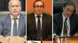 Castelli, Bertuzzi y Bruglia, de izquierda a derecha. los jueces que Cambiemos cambió de lugar sin respetar las leyes.