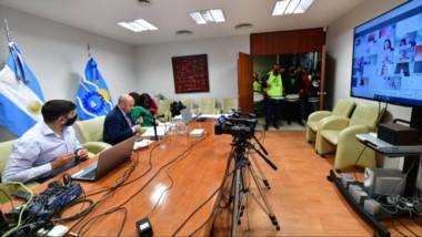El vicegobernador de Chubut, Ricardo Sastre, realizó una conferencia de prensa donde aclará que la sesión virtual quedaba suspendida.