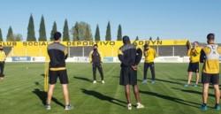 Luego de siete meses, Deportivo Madryn volvió a los entrenamientos presenciales en el Abel Sastre bajo estrictos protocolos de sanidad.