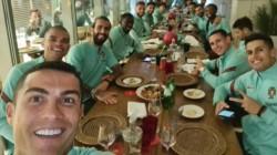La última foto que publicó Cristiano Ronaldo junto a sus compañeros antes de abandonar la concentración de Portugal.