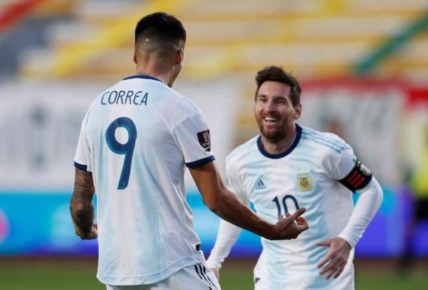 Correa ingresó y le dio el triunfo a Argentina con un estupendo remate de zurda.