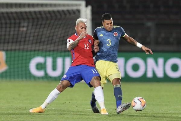 Colombia y Chile dividieron puntos en la eliminatoria rumbo a Qatar de la CONMEBOL.