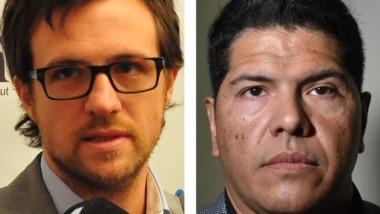 Protagonistas. Ruffa (izquierda) y su presentación contra Ayala.