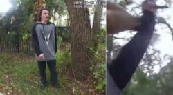El policía se acercó a Furgason y le agarró el brazo izquierdo. Entonces el joven se sacudió, sacó un cuchillo y lo apuñaló en el cuello.