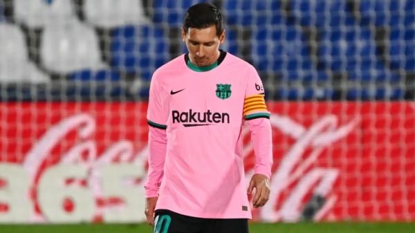 Messi no tuvo un buen partido, y sus compañeros tampoco.