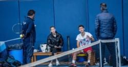 Peque Schwartzman ya se entrena preparándose para los torneos europeos indoor, y lo hace en la Academia de Rafa Nadal.